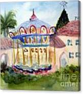 Carosel At Old School Square Canvas Print