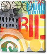 Carousel #6 Ride- Contemporary Abstract Art Canvas Print