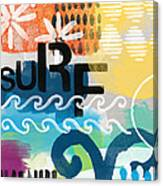 Carousel #7 Surf - Contemporary Abstract Art Canvas Print