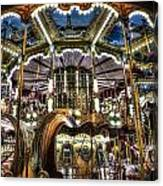 Carousel At Hotel Deville Canvas Print