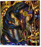 Carousel Beauty Waiting For A Rider Canvas Print