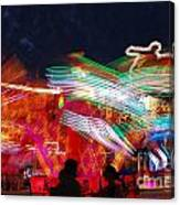 Carousel By Night Canvas Print