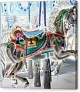 Carousel Horse In Negative Colors Canvas Print
