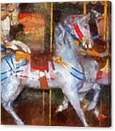 Carousel Horse Photo Art 02 Canvas Print
