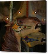 Carousel Horses Painterly Canvas Print