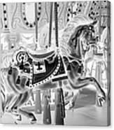 Carousel In Negative 3 Canvas Print