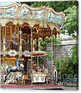 Carousel In Paris Canvas Print