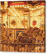 Carousel Night Lights Canvas Print