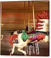 Carousel Rush Canvas Print