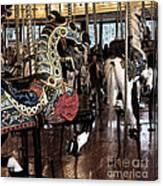 Carousel War Horse Canvas Print