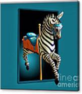 Carousel Zebra Canvas Print