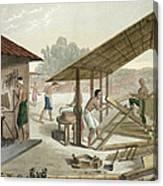 Carpentry Workshop In Kupang, Timor Canvas Print