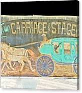 Carriage And Stagecoach Color Invert Canvas Print
