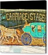 Carriage And Stagecoach Sign Canvas Print