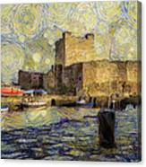 Starry Carrickfergus Castle Canvas Print