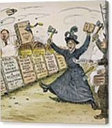 Carry Nation Cartoon, 1901 Canvas Print