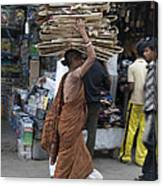 Carrying Cardboard Canvas Print