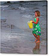 Carrying Water Canvas Print