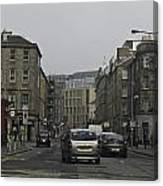 Cars And Buildings On The Streets Of Edinburgh Canvas Print
