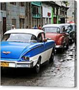 Cars In A Line Canvas Print