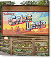 Cars Land Canvas Print