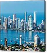 Cartagena Skyscapers Canvas Print