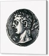 Carthaginian Coin. Minted In Spain Canvas Print