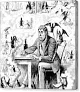 Cartoon Alcoholism, 1874 Canvas Print