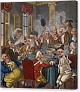 Cartoon: The Smoking Club Canvas Print