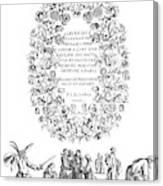Cartouche, 1635 Canvas Print