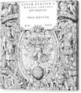 Cartouches, 1572 Canvas Print