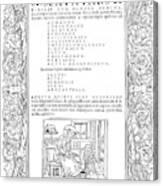 Cartouches, C1530 Canvas Print