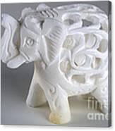 Carved Elephant Canvas Print