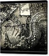 Carved Naga At Banteay Srey Canvas Print