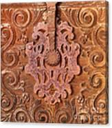 Carved Wooden Door Canvas Print