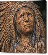 Carved Wooden Indian Canvas Print