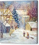 Carversville Snow Canvas Print