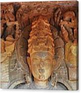 Statue At The Temple Of The 64 Yoginis - Jabalpur India Canvas Print