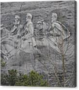 Carving Of Confederate Generals On Stone Mountain Canvas Print