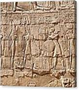 Carvings At The Temple Of Karnak Canvas Print