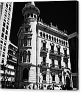 Casa De La Punxa Home To The Tarragona Chamber Of Commerce Catalonia Spain Canvas Print