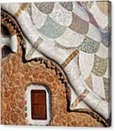 Casa Del Guarda Details In Park Guell Canvas Print