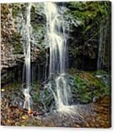 Cascade Falls In The Fall Canvas Print