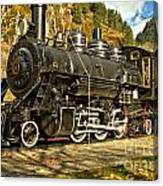 Cascade Mountain Train Canvas Print