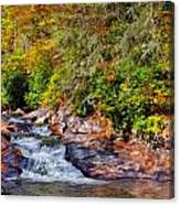 Cascade Of Water Canvas Print