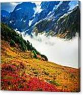 Cascade Pass Peaks Canvas Print