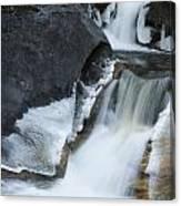 Cascades At Kent Falls Canvas Print