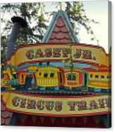 Casey Jr Circus Train Fantasyland Signage Disneyland Canvas Print