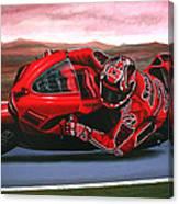 Casey Stoner On Ducati Canvas Print