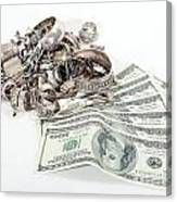 Cash For Sterling Silver Scrap Canvas Print